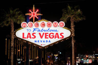 Photograph - Las Vegas Sign At Night by Sanjeev Singhal