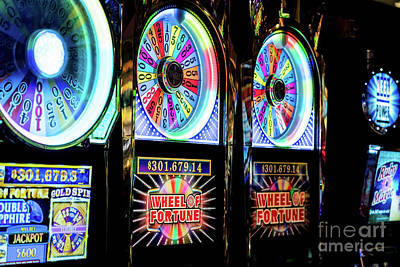 Photograph - Las Vegas Slot Machines 1 by Sanjeev Singhal