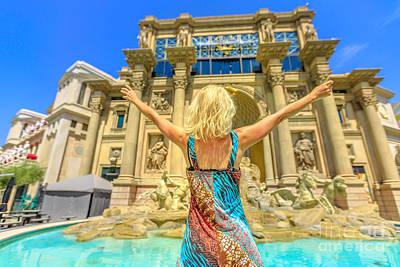 Photograph - Las Vegas Woman Shopping Mall by Benny Marty