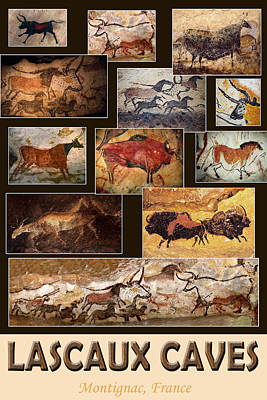 Photograph - Lascaux Cave Art by Andrew Fare