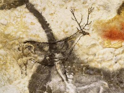 Digital Art - Lascaux Hall Of The Bulls - Jumping Deer by Weston Westmoreland