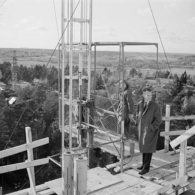 Valentines Day - Lasse Sarjolahti  engineer  visited the site Helsinki  October 13  1961 Photographer Heikki Savolai by Celestial Images