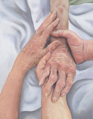 Wall Art - Painting - Last Goodbye by Jackie Little Miller
