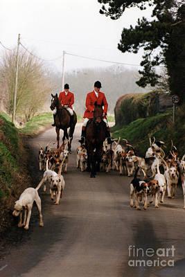 Photograph - Last Hunt of the Season for the Pelham Fox Hounds by Knelstrom Ltd