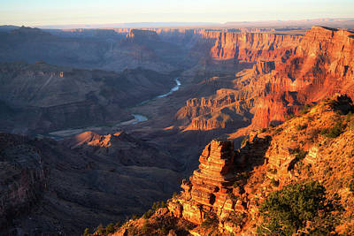 Moody Trees Rights Managed Images - Grand Canyon Desert View Last Light Royalty-Free Image by Chance Kafka