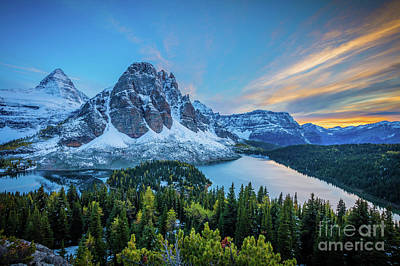 Photograph - Last Light At Mt Assiniboine by Inge Johnsson