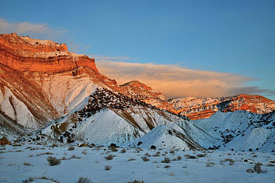 Photograph - Last Light Of The Day On The Book Cliffs by Ray Mathis