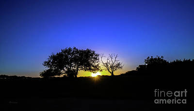 Photograph - Last Light Texas Hill Country Paradise Canyon Sunset 8053a1 by Ricardos Creations