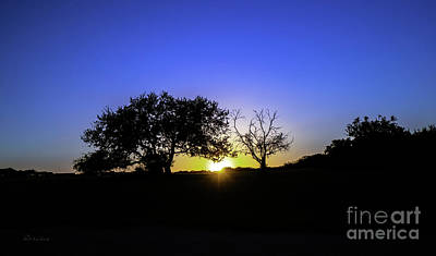 Photograph - Last Light Texas Hill Country Paradise Canyon Sunset 8053b by Ricardos Creations