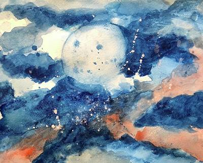 Painting - Last Nights Magic Moon by Christina Schott