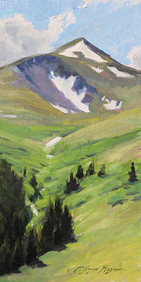 Painting - Last Of The Snow, Guanella Pass by Anna Rose Bain