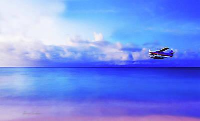 Digital Art - Last Plane Leaving For The Real World by Chas Sinklier