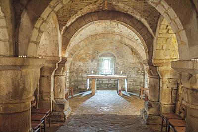 Photograph - Lastingham Church Crypt, Yorkshire by David Ross