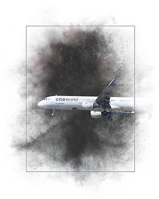 Mixed Media - Latam Brasil Airbus A321-211 Painting by Smart Aviation