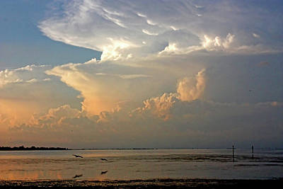 Photograph - Late Day Storms by HH Photography of Florida