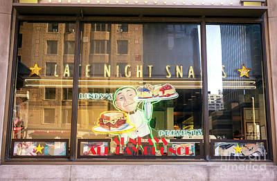 Photograph - Late Night Snacks At Lindy's New York City by John Rizzuto