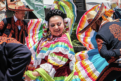 Robert Bellomy Royalty-Free and Rights-Managed Images - Alegre Ballet Folklorico Dancers by Robert Bellomy