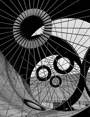Photograph - Lattice Like Support Struts Inside by Margaret Bourke-white