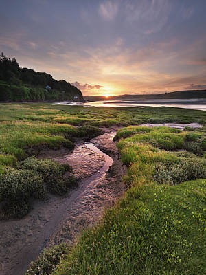 Elliott Coleman Royalty-Free and Rights-Managed Images - Laugharne Estuary at Sunrise by Elliott Coleman