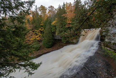 Photograph - Laughing Whitefish Falls 101218012 by Rick Veldman