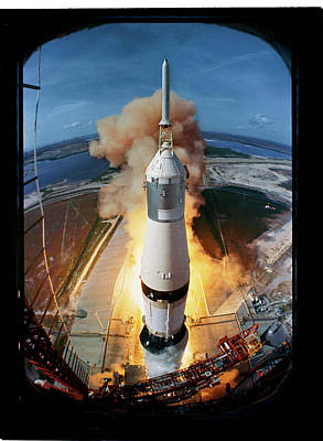 Photograph - Launch Of Apollo 11.  Photo By Ralph Mo by Ralph Morse