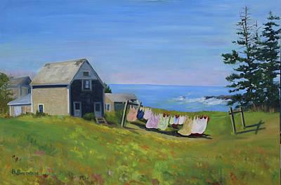 Painting - Laundry Day by Barbara Busenbark