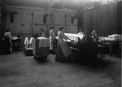 Laundry Art Print by Hulton Archive