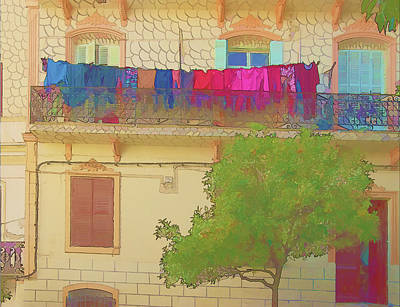 Photograph - Laundry In Tangier by Jessica Levant