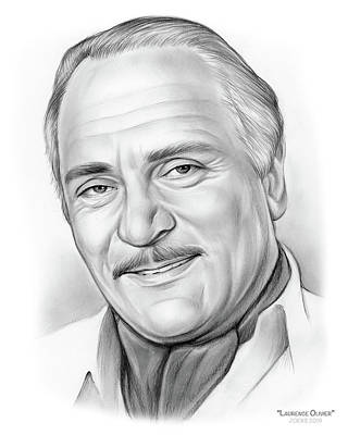 Drawing - Laurence Olivier by Greg Joens