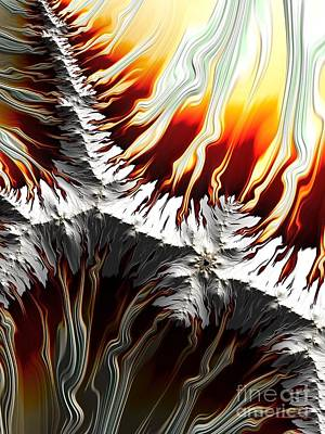 Digital Art - Lava Fire And Ice Fractal Abstract by Rose Santuci-Sofranko