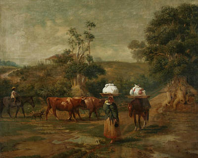 Painting - Lavanderas In The Base Of Belgrano by Prilidiano Pueyrredon