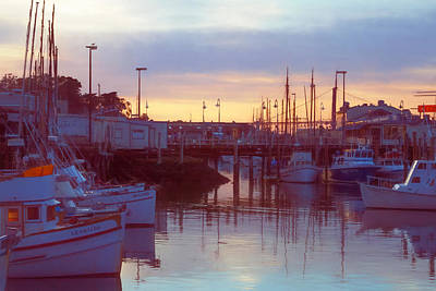 Photograph - Lavender Evening At The Marina by Bonnie Follett