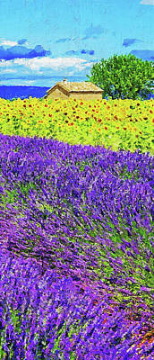 Painting - Lavender Fields - 04 by Andrea Mazzocchetti