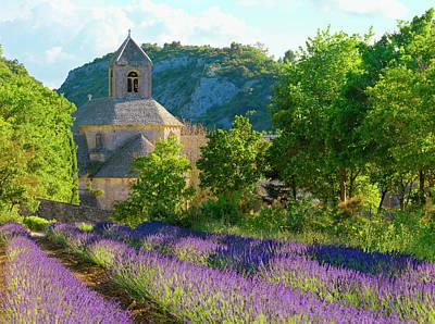 Photograph - Lavender In-front Of Abbey De Senanque by Shaun Egan
