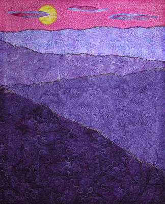 Tapestry - Textile - Lavender Mountains by Pam Geisel
