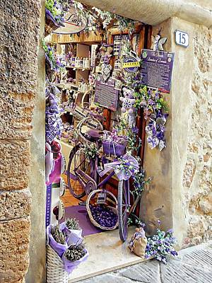 Photograph - Lavender Shop Pienza by Dorothy Berry-Lound