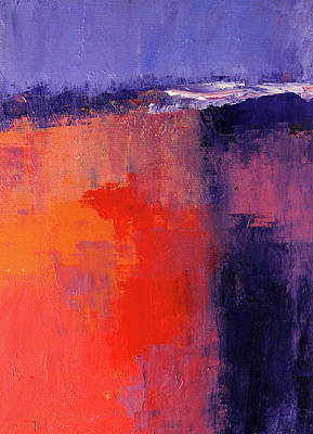 Painting - Lavender Sky Abstract by Nancy Merkle