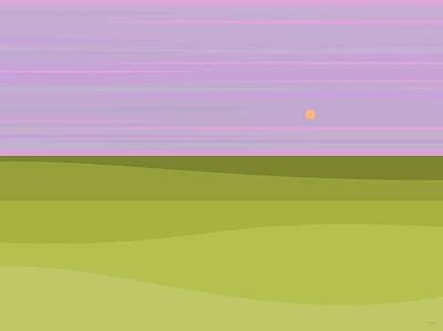 Digital Art - Lavender Sky by Val Arie
