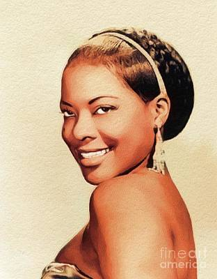 Music Paintings - Lavern Baker, Music Legend by Esoterica Art Agency