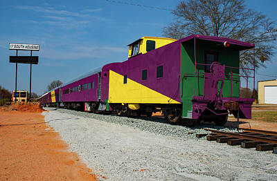 Photograph - Lavonia Caboose by Joseph C Hinson Photography