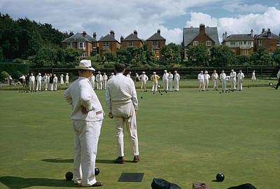 Photograph - Lawn Bowls by Slim Aarons