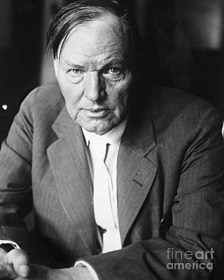 Photograph - Lawyer Clarence Darrow by New York Daily News