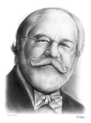 Drawings - Lawyer Ty Cobb by Greg Joens