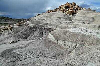 Photograph - Layered Bentonite Dunes In San Rafael Desert by Ray Mathis