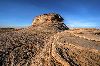 Photograph - Layered Rocks by Todd Klassy