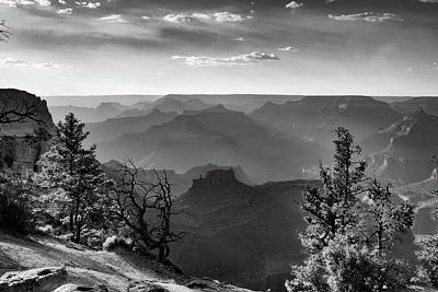 Photograph - Layers Of Grand Canyon - Monochrome by Gregory Ballos