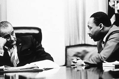 Photograph - Lbj & Mlk by Hulton Archive