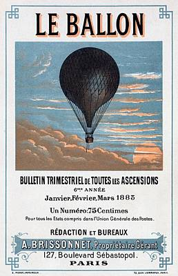 Painting - Le Ballon Aeronautical Journal, 1883 French Poster by E Pichot