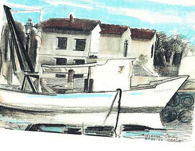 Painting - Le Barche Galleggianti Nel Mare Adriatico  by Suzanne Cerny
