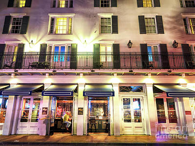 Photograph - Le Booze At Night New Orleans by John Rizzuto